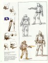 Early Boba Fett Sketches by Ralph McQuarrie and Joe Johnston
