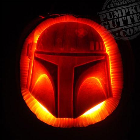 Fett pumpkin by PumpkinGutter.com