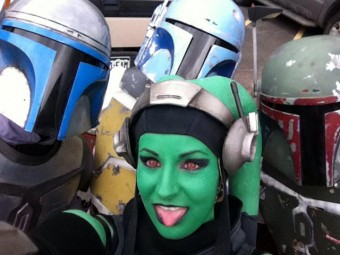 Kaufmann (Holiday Fett) and Chana (Boba) with friends Jango and Hydra