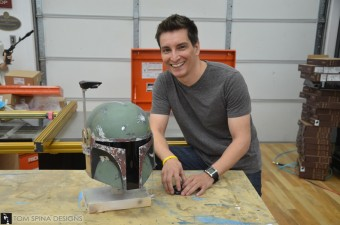 Boba Fett helmet paint scheme 1 340x225 Exclusive Interview: Making of the Sideshow Collectibles Life Size Boba Fett Statue