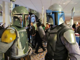 Polifka (Boba) and Chana (Jango) at Dragon Con 2013