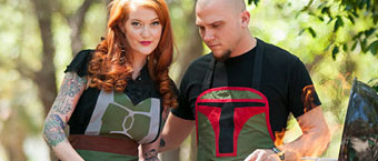boba fett bbq Boba Fett BBQ: His and Her Aprons on Etsy