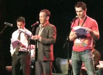 Daniel Logan on stage