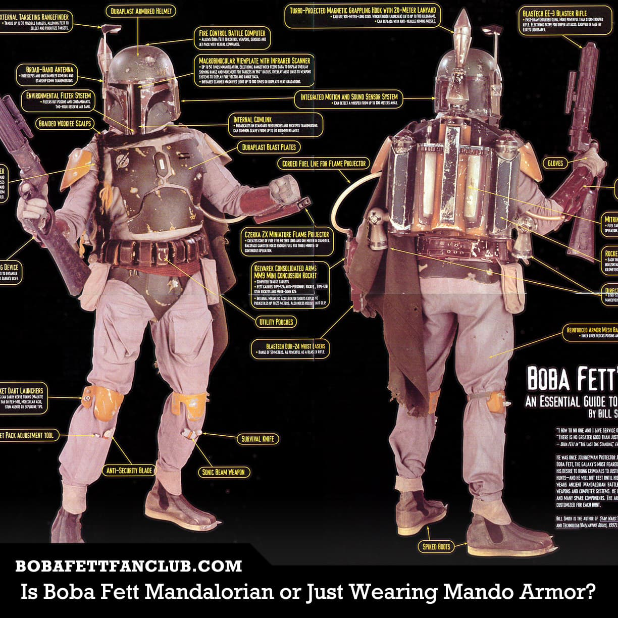 Is Boba Fett a Mandalorian or Does He Just Wear Mandalorian Armor?