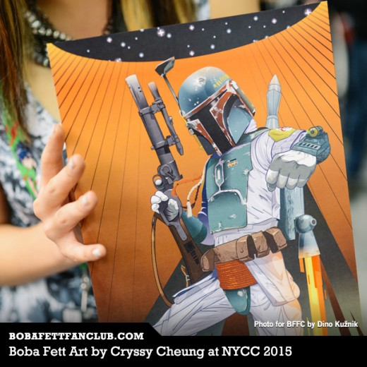 Boba Fett Art by Cryssy Cheung