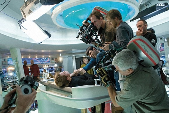 Frame of reference. This is how Star Trek was shot. Star Wars Episode 7 will use the same camera team and director.