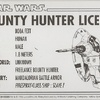 Boba Fett Bounty Hunter License