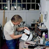Brian Archer working on Boba Fett's Helmet