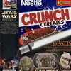 "Crunch ""Attack of the Clones"" Cereal Box with Jango Fett and Mace Windu Card"