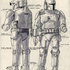 Back and Front Concept Boba Fett in White Armor #0225...