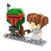 LOZ Star Wars Diamond Nano-Block, Boba Fett and Princess Leia