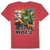 Star Wars Boys Vertical Tri Short Sleeve Graphic Crew T-Shirt With Shimmer Ink