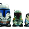 Star Wars Chubby Series 2 Jango Fett with Two Boba Fetts, Loose