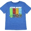 Star Wars Little Boys' Mini Cartoon Characters Speckled Heather T-Shirt