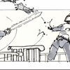 """Star Wars Storyboards: The Original Trilogy,"" Luke Skywalker vs. Boba Fett Storyboard"