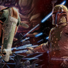 "Slave I and Boba Fett in the ""Star Wars: The Force..."