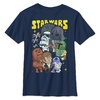 The Empire Strikes Back Cartoon Style Kids T-Shirt