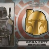 Star Wars Chrome Perspectives Boba Fett Helmet Medallion, Gold (2014)