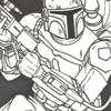 Star Wars Galactic Files Sketch Card Chad McCown (2012)