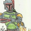 Star Wars Galactic Files 2 Sketch Card Dan Curto (2013)
