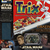 "Trix ""Attack of the Clones"" Cereal Box with Jango Fett and Mace Windu Card"
