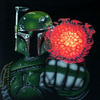 Boba Fett Flamethrower T-shirt, Detail (1996)