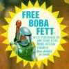 Free Boba Fett Promo, card front sticker (1978)