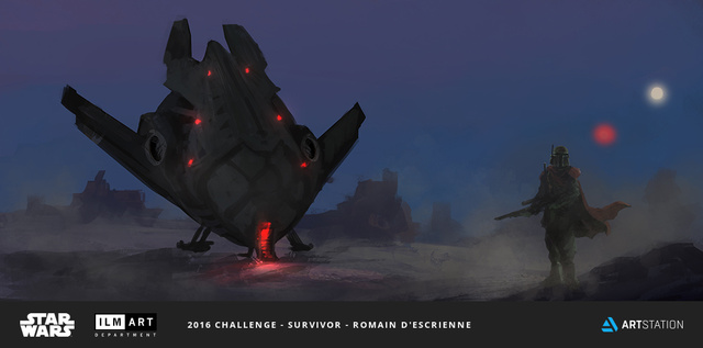 2016 ILM Art Department Challenge Entry by Romain D'escrienne
