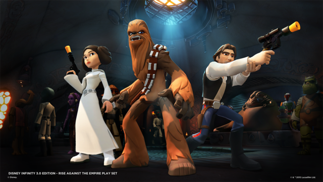 Disney Infinity 3.0 Star Wars, with Boba Fett in the Background
