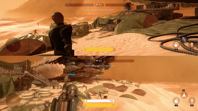 Star Wars Battlefront, Luke Skywalker vs. Boba Fett Gameplay