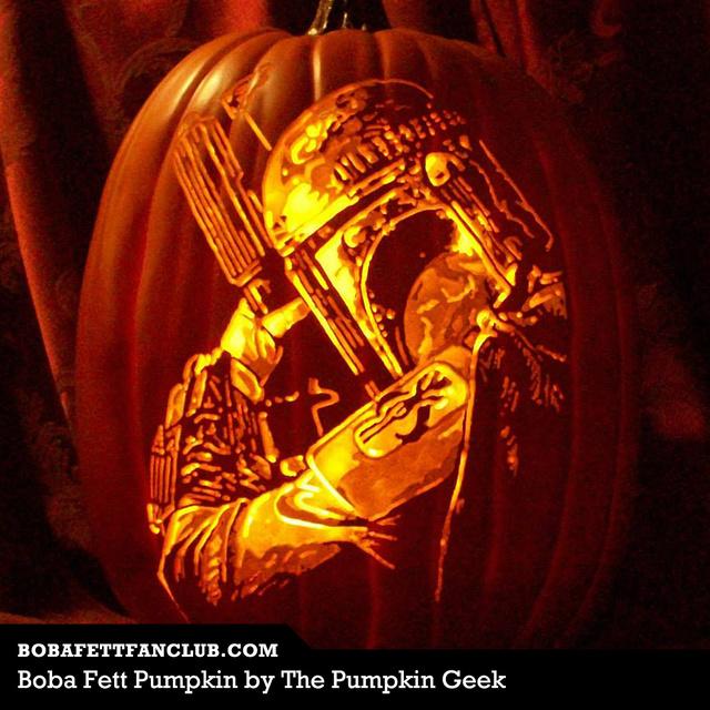 Boba Fett Pumpkin Carving by Alex Wer (aka The Pumpkin Geek)