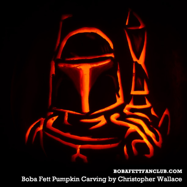 Boba Fett Pumpkin Carving by Christopher Wallace