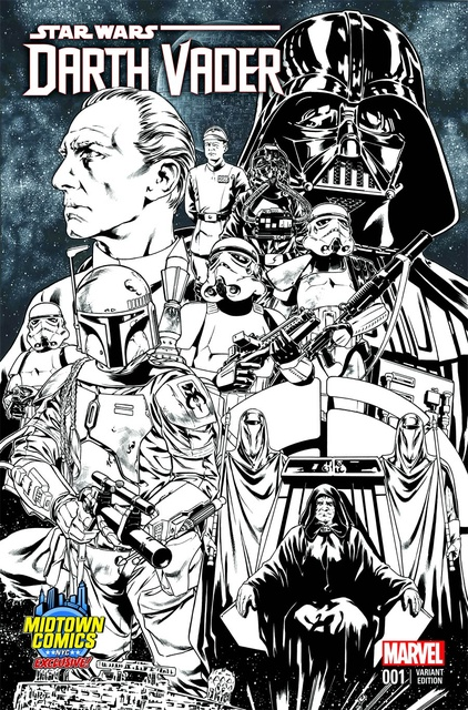 Darth Vader #1 (Midtown Comics exclusive), B&W Variant