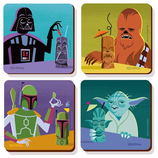 Geeki Tikis 4-Pack Coaster Set (Special Edition SHAG Exclusive)