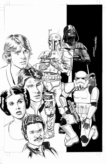 Star Wars #1 (Zapp Comics Exclusive, B&W Variant) (2015)