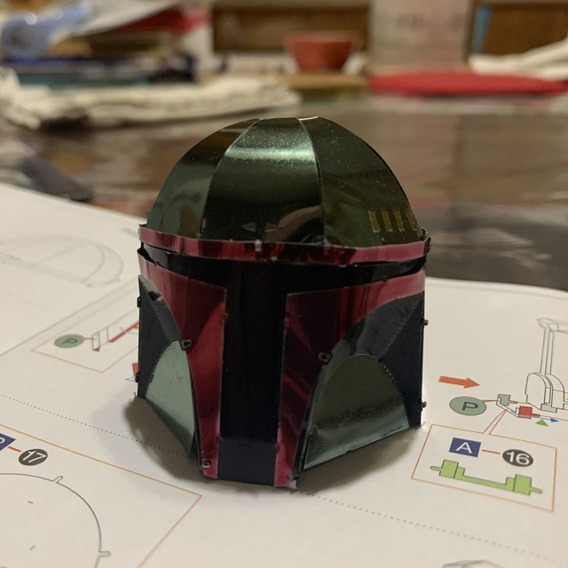 Metal Earth Boba Fett Helmet Model Kit