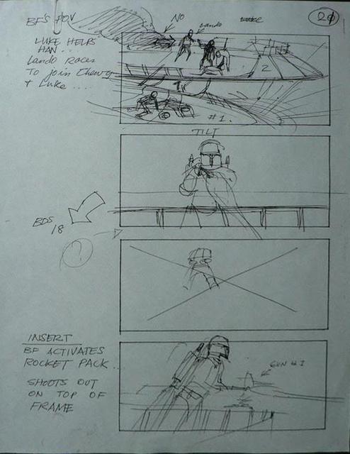 """Return of the Jedi"" Storyboard Draft, Page 21 (Unverified)"