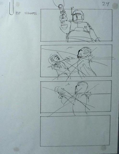 """Return of the Jedi"" Storyboard Draft, Page 24 (Unverified)"