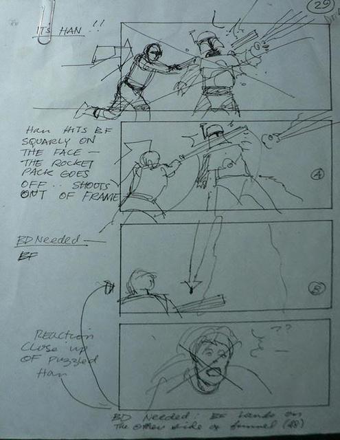 """Return of the Jedi"" Storyboard Draft, Page 29 (Unverified)"