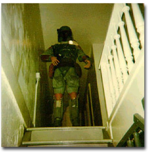 Sandy Dhuyvetter's Boba Fett Costume Modeled