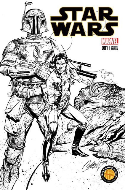 Star Wars #1 (The Cargo Hold Exclusive, B&W Variant) (2015)