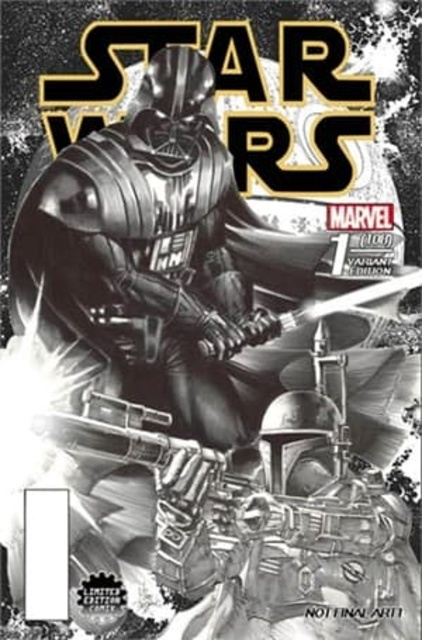 Star Wars #1 (Limited Edition Comix Exclusive, B&W Variant) (2015)
