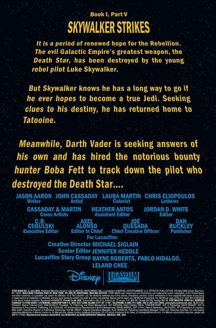 Star Wars #5, Opening Crawl Page Mentioning Boba Fett (2015) - Boba