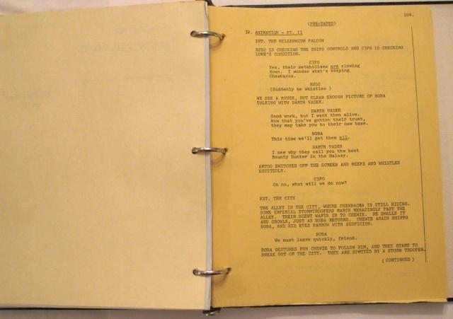 "Excerpt of ""Star Wars Holiday Special"" Script, Fett Excerpt"