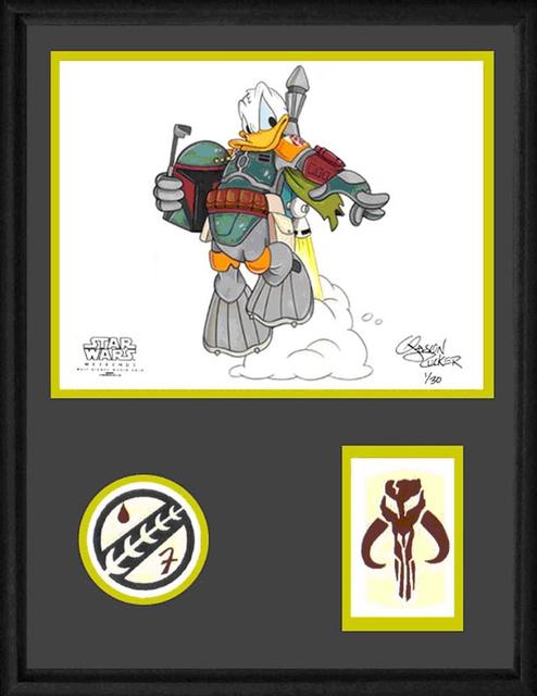 Donald As Boba Fett By Disney Sketch Artist Jason Zucker 2010