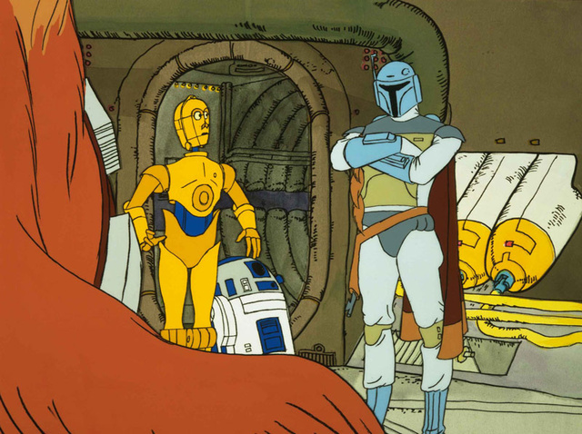 Boba Fett with Chewbacca and C-3PO