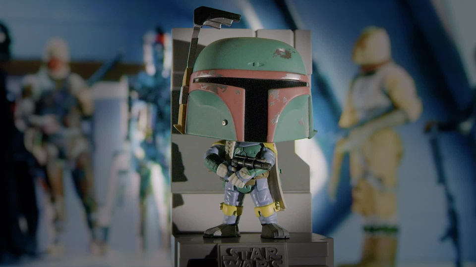 "Early bird ""unboxing"" of the GameStop-exclusive Funko Boba Fett"