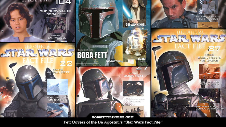 "Fett Covers of ""Star Wars Fact File"" Magazines"