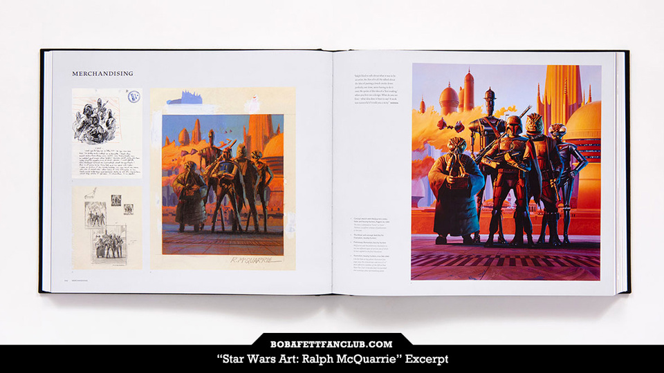 """Star Wars Art: Ralph McQuarrie"" Reveals Early Drafts of Bounty Hunter Painting"