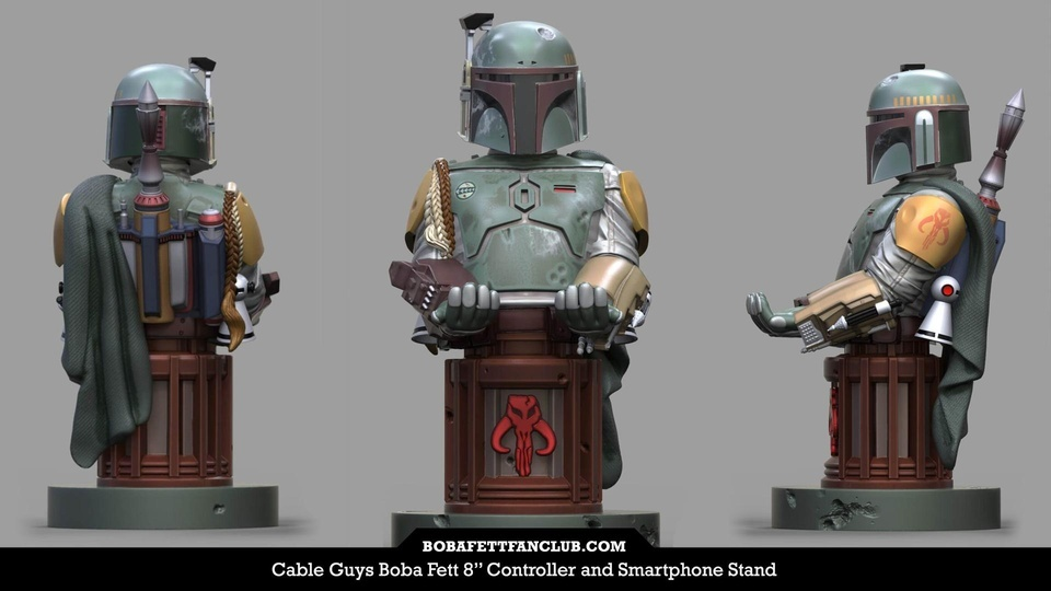 Cable Guy Boba Fett Stand